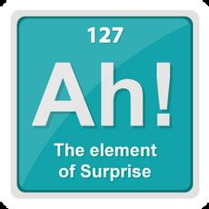 Ah The Element of Surprise Sticker