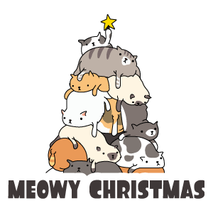 Meowy Christmas Sticker