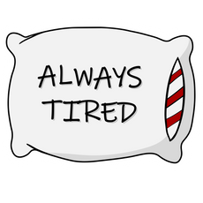 Always Tired Pillow Sticker