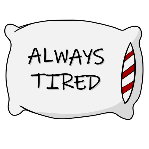Always Tired Pillow Sticker