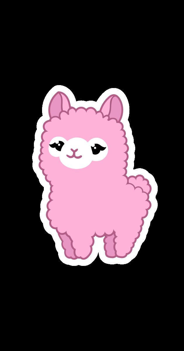 Cute Pink LLama Sticker