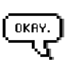 Okay Pixel Speech Balloon Sticker