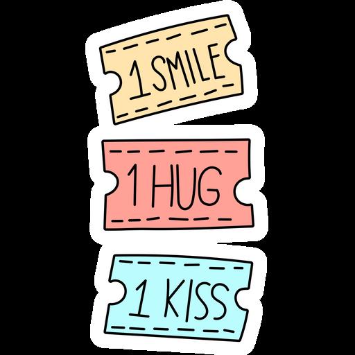 Coupons for 1 Smile 1 Hug 1 Kiss Sticker
