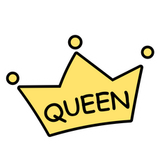 Queen Cartoon Crown Sticker
