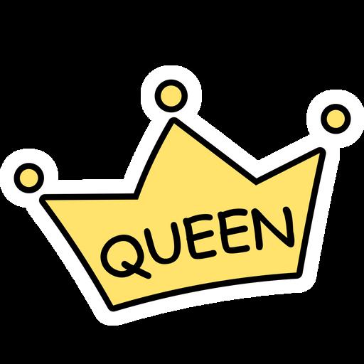Queen Cartoon Crown Sticker