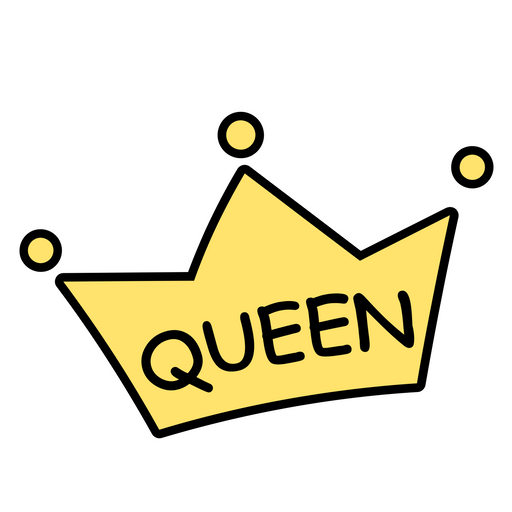 Queen Cartoon Crown Sticker Sticker Mania Polish your personal project or design with these queen crown transparent png images, make it even more personalized and more attractive. queen cartoon crown sticker sticker mania