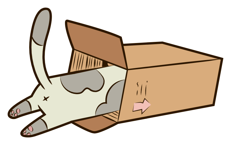 Cat in the box Sticker