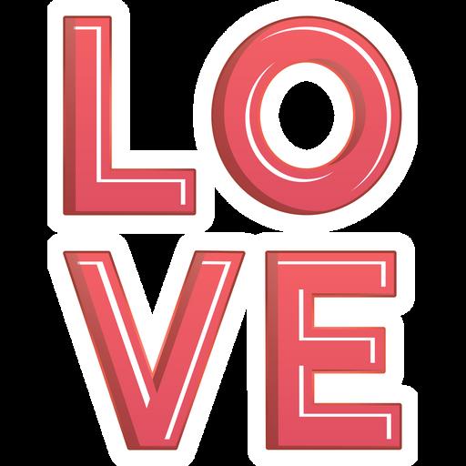 Red LOVE Sticker