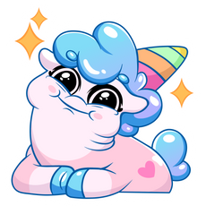 Little Sweety Unicorn Sticker