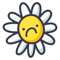 Sad Flower Sticker