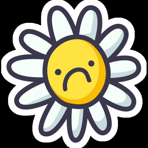 Sad Flower Sticker