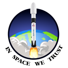 SpaceX Falcon 9 In Space We Trust Sticker