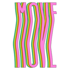 Pink MOVE Sticker