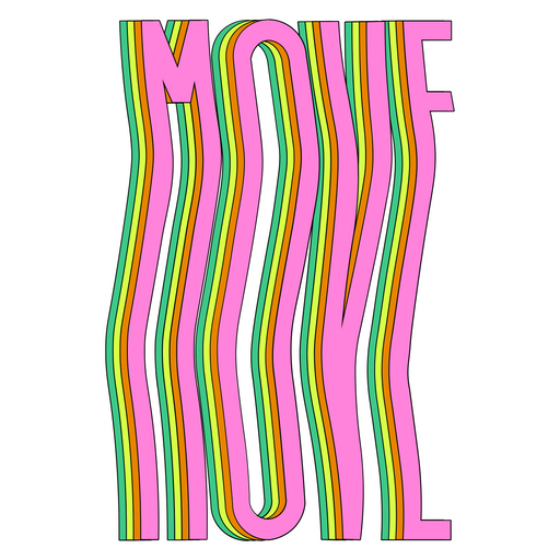 Pink MOVE Sticker
