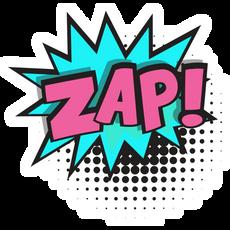 ZAP Comics Style Sticker