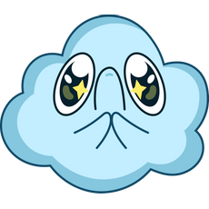 Cute Pleading Cloud Sticker
