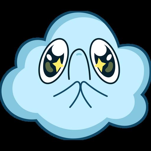 Cute Pleading Cloud Sticker