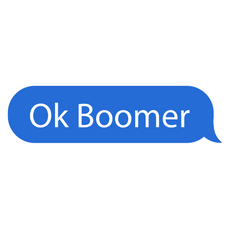 Ok Boomer Chat Message Bubble Sticker