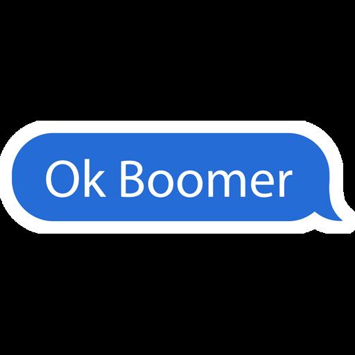 Ok Boomer Chat Message Bubble Sticker
