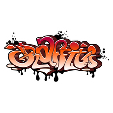 Orange Graffiti Wildstyle