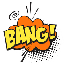 Bang Comics Style Sticker