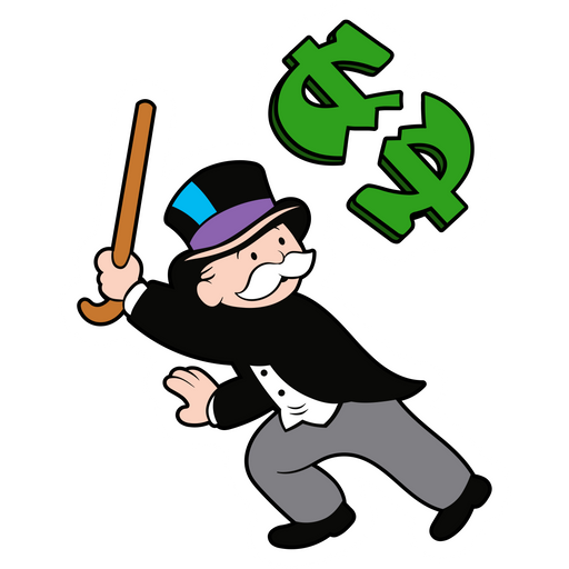 Rich Uncle Pennybags Breaks the Dollar Sticker
