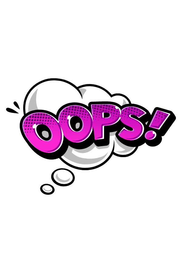 Oops Comics Style Sticker