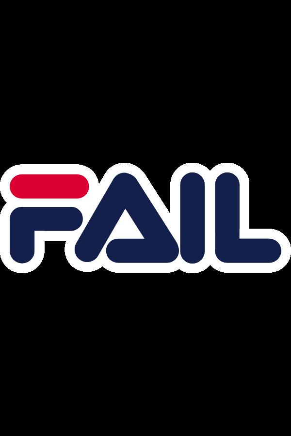 FAIL FILA Logo Style Sticker