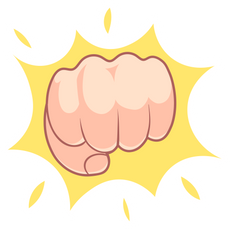 Fist Bump Gesture Sticker