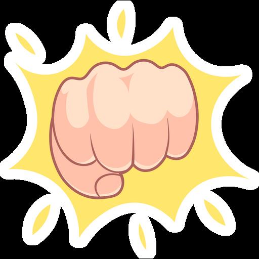 Fist Bump Gesture Sticker