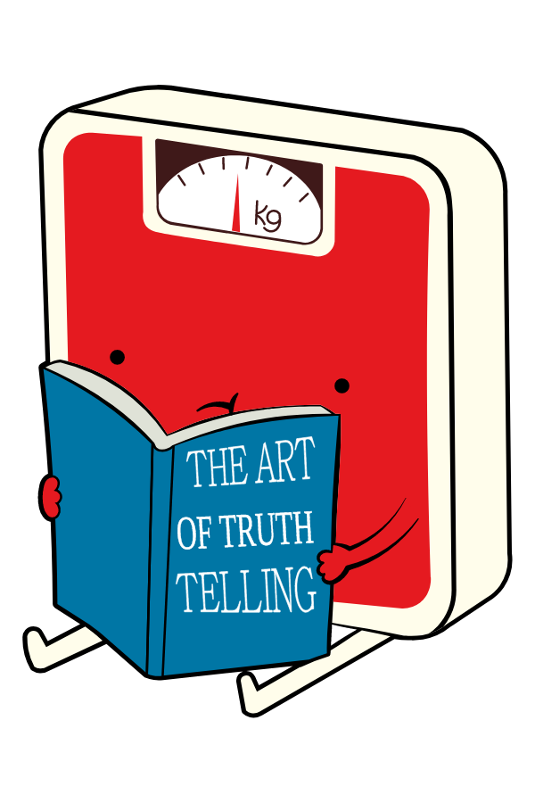 Body Scales The Art of Truth Telling Sticker