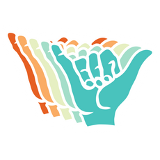 Multicolored Shaka Sign Sticker
