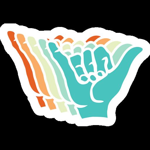 Multicolored Shaka Sign Sticker
