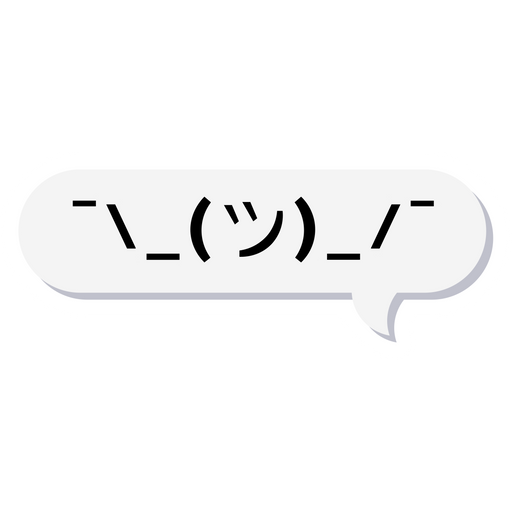 Emoticon in Chat Message Bubble Sticker
