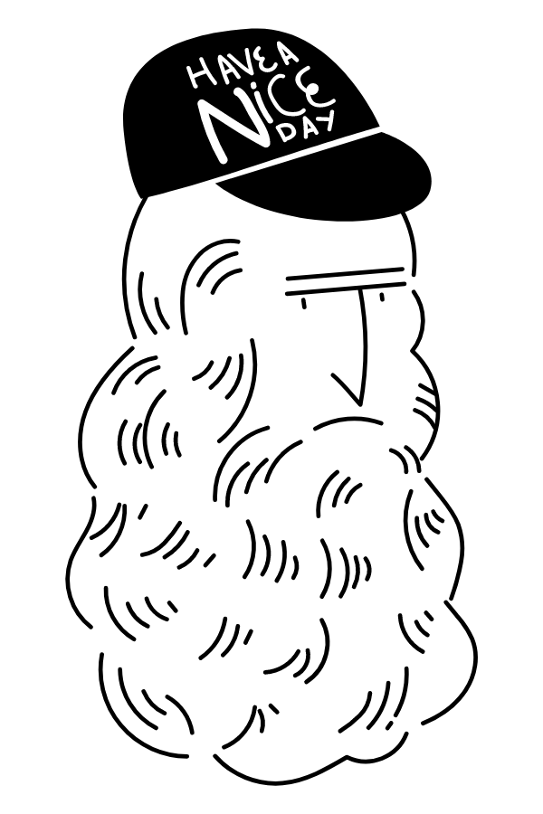 Leonardo da Vinci in а Сap Sticker