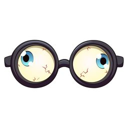 Funny Eyes Glasses Sticker