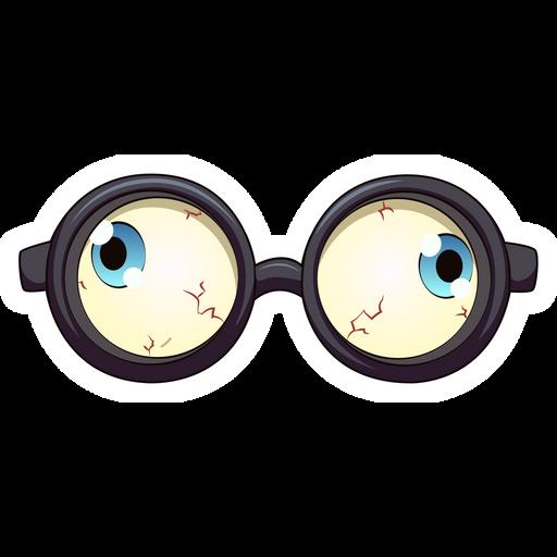 Funny Eyes Glasses Sticker