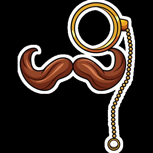 Mustache and Monocle Sticker