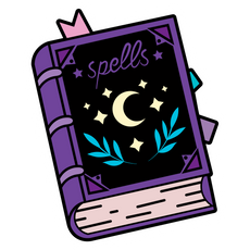 Purple Spellbook Sticker