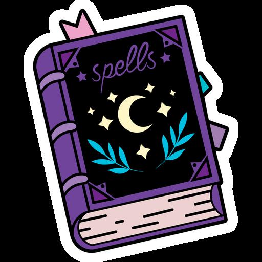 Purple Spellbook Sticker