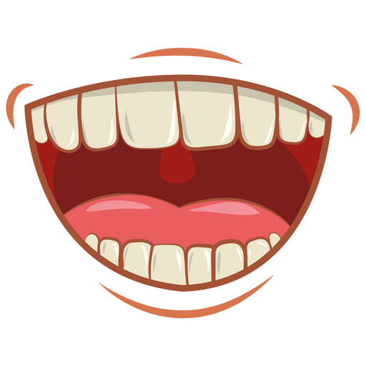 Laughing Mouth with Teeth Sticker