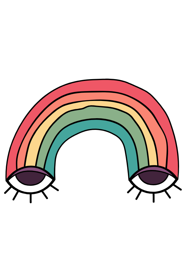 Rainbow with Eyes Sticker