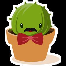 Cactus Gentleman Sticker