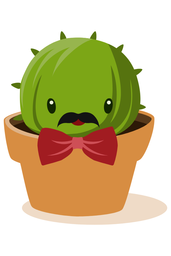 Cactus Gentleman Sticker