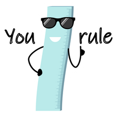 Ruler - You Rule Sticker