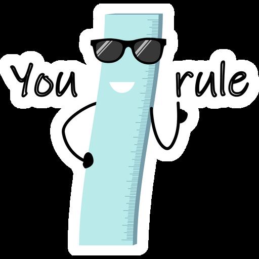 Ruler - You Rule Sticker