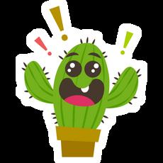 Cute Happy Cactus Sticker