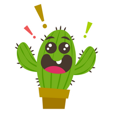 Cute Happy Cactus Sticker