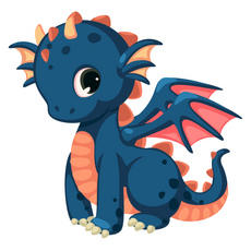 Blue Dragon Kid Sticker