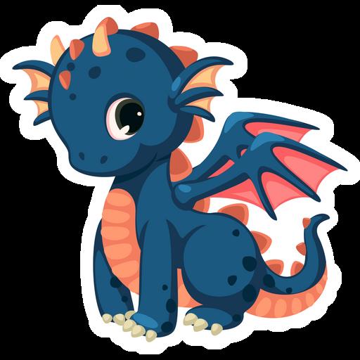 Blue Dragon Kid Sticker